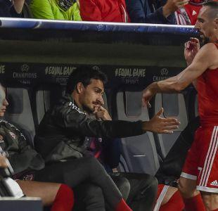 [VIDEO] La rabia de Franck Ribéry al ser sustituido en victoria del Bayern por la Champions League