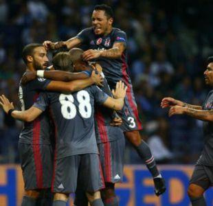 Gary Medel debuta en valiosa victoria del Besiktas en Champions League