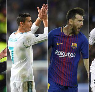 Cavani, Cristiano, Messi y Kane pelean por ser el goleador de la Champions League
