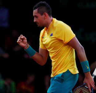 Nick Kyrgios equilibra para Australia en Bélgica en la Copa Davis