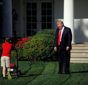 Un niño se gana el trabajo de cortar el césped de la Casa Blanca