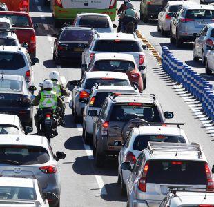 Fiestas patrias: Carabineros anticipa peak en autopiestas entre las 10 y las 12 del sábado