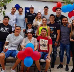 [FOTO] Futbolistas chilenos en México se reúnen para celebrar las Fiestas Patrias