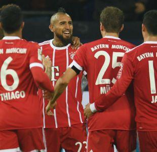 Arturo Vidal aporta un tanto en goleada del Bayern Münich sobre Schalke 04