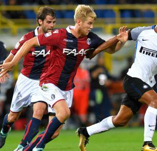 Erick Pulgar fue titular en empate de Bologna frente a Inter en la Serie A