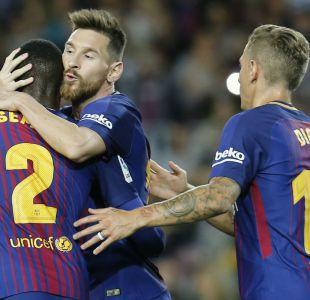 Lionel Messi brilla con cuatro goles en triunfo del Barcelona sobre Eibar en España