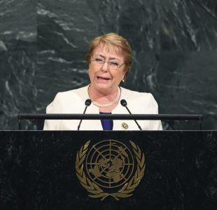 Bachelet destaca ley de aborto y gratuidad universitaria en su discurso ante la ONU