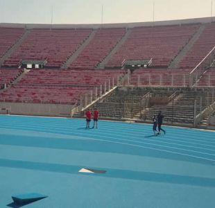 [VIDEO] Con nueva pista atlética arranca la remodelación del Estadio Nacional