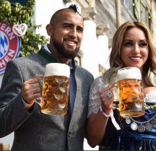 [FOTOS] Arturo Vidal y Bayern Münich disfrutan en el Oktoberfest