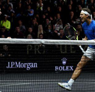 Roger Federer y Rafael Nadal juegan juntos en dobles por primera vez en la Laver Cup