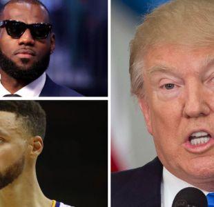 Donald Trump se enfrenta a estrellas del deporte como Stephen Curry y LeBron James de la NBA