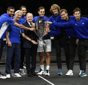 Roger Federer brinda a Europa el triunfo en la primera edición de la Laver Cup