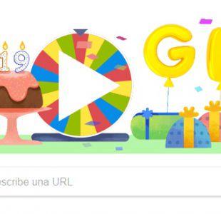 Google celebra su 19 aniversario con un doodle lleno de sorpresas