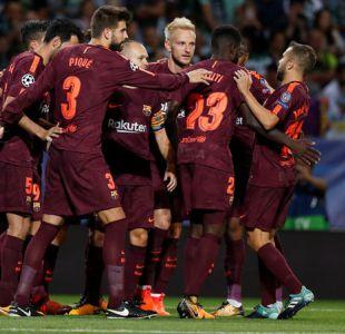 FC Barcelona vence a Sporting y lidera en solitario el Grupo D de la Champions