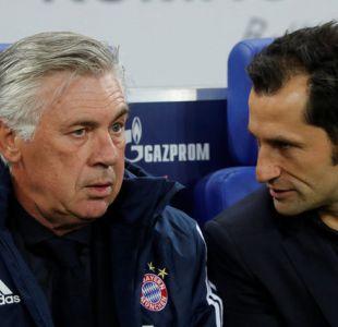 Dura caída del Bayern de Vidal en Champions provoca salida del técnico Ancelotti