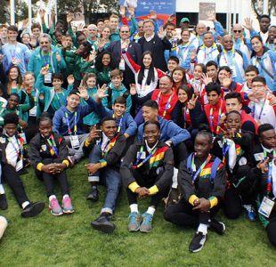 """[FOTOS] Con izamiento de banderas se da el """"vamos"""" a Juegos Suramericanos de la Juventud"""