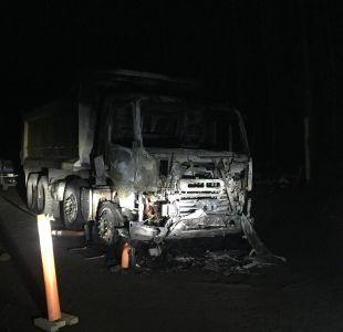 Nuevo ataque deja maquinaria quemada en Curacautín