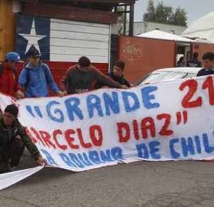 [FOTOS] Hinchas protestan en Juan Pinto Durán por la marginación de Marcelo Díaz