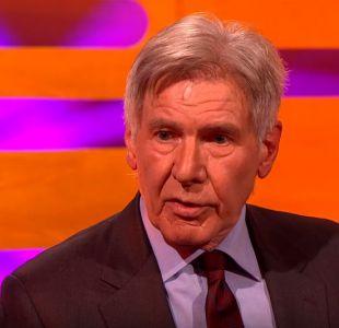El gracioso momento en que Harrison Ford olvida el nombre de Ryan Gosling en la televisión británica