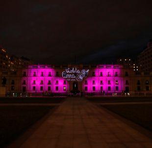 [FOTOS] Palacio de La Moneda rinde homenaje a Violeta Parra por su centenario