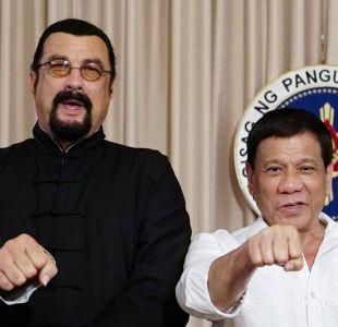 Steven Seagal y el presidente Rodrigo Duterte