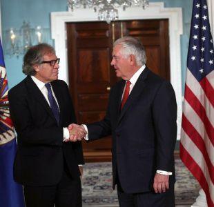 Secretario de Estado de Estados Unidos conversa con Almagro sobre elecciones en Venezuela