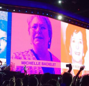 El reservado encuentro de Bachelet con U2 en el Estadio Nacional