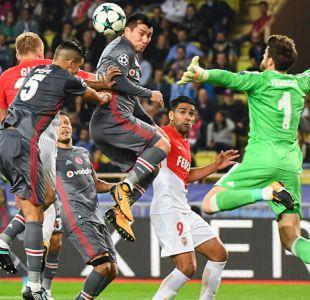 Besiktas con Gary Medel vence a AS Monaco y afianza su liderato en Champions League