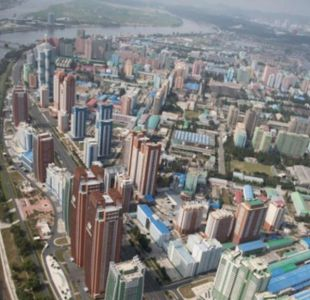 Las increíbles imágenes aéreas de la capital de Corea del Norte