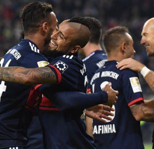 Bayern Munich gana con Vidal en cancha y alcanza a Dortmund en la cima de la Bundesliga