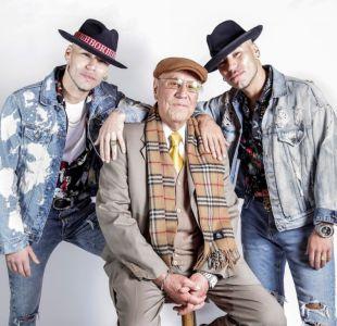 """Raúl y Gabriel Peralta, """"Power Peralta"""", con su abuelo """"tata Raúl""""."""