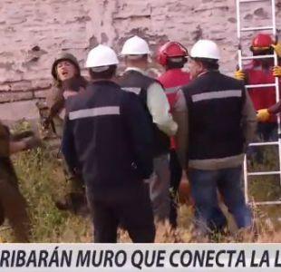 La Legua: aumenta la tensión ante inminente derrumbe de muro divisor