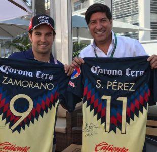 [FOTOS] Iván Zamorano comparte con Sergio Pérez, piloto mexicano de Fórmula 1