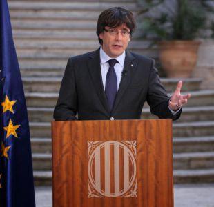 Puigdemont llama a oponerse democráticamente a la intervención del gobierno español