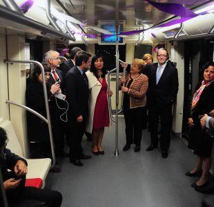 Bachelet inaugura Línea 6 del Metro que abrirá sus puertas al público a las 16:00 horas