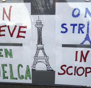 Camiones bloquean entradas de Paris en protestas