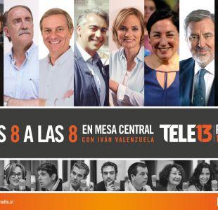 """""""Los 8 a las 8"""": Tele13 Radio estrena ciclo de entrevistas con presidenciables en la recta final"""