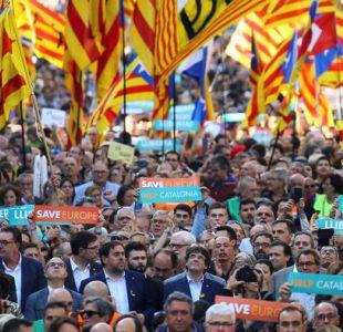 Cataluña vuelve a movilizarse por libertad para independentistas detenidos