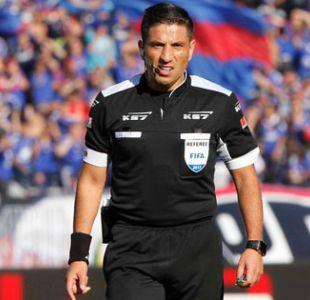 Eduardo Gamboa dirigirá la final de Copa Chile entre la U y Santiago Wanderers
