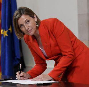 Presidenta del Parlamento catalán irá a prisión hasta que pague fianza