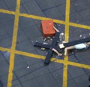 [VIDEO] Reportajes T13: Así se identificó a los encapuchados detrás del cristo roto