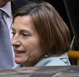 Presidenta del Parlamento de Cataluña sale en libertad bajo fianza