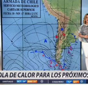 [VIDEO] Michelle Adam explica cómo será la ola de calor de este fin de semana