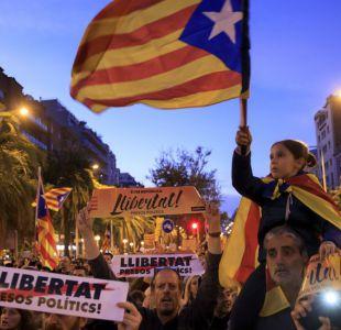 La multitudinaria manifestación en Barcelona por la liberación de los líderes independentistas