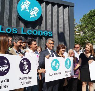 Enríquez-Ominami propone cambiar nombre de estación Los Leones por Michelle Bachelet