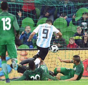 El susto de Sergio Agüero en amistoso de Argentina ante Nigeria