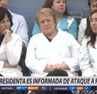 [VIDEO] El momento exacto en que Bachelet se entera del ataque a Rossi