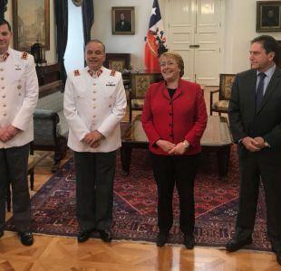 Presidenta recibió al nuevo comandante en jefe del Ejército en La Moneda