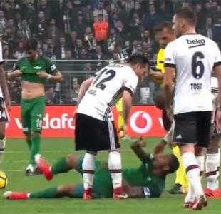 [VIDEO] La agresión contra Gary Medel en empate del Besiktas por la Süper Lig