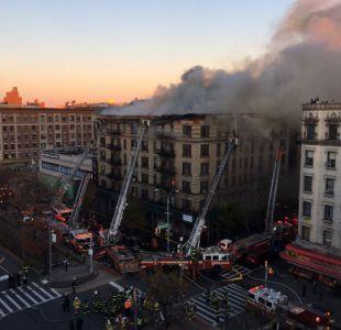Incendio afecta a edificio residencial en Nueva York